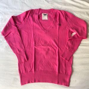 Gilly Hicks Sydney V-Neck Sweater L large pink